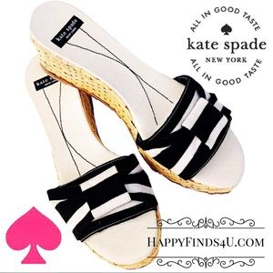"KATE SPADE  ♠️ ""Basket-Weaved"" Wedge Heel"